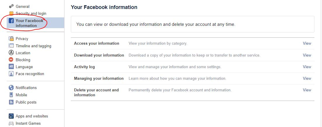 Delete your facebook account permana